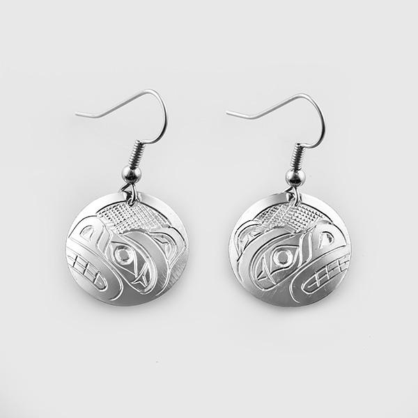 Silver Bear Earrings by Native Artist Don Lancaster