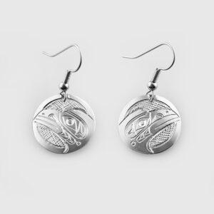 Silver Raven Earrings by Native Artist Don Lancaster