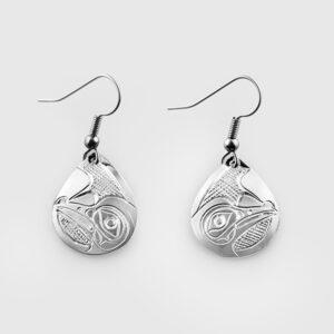 Silver Hummingbird Earrings by Native Artist Don Lancaster
