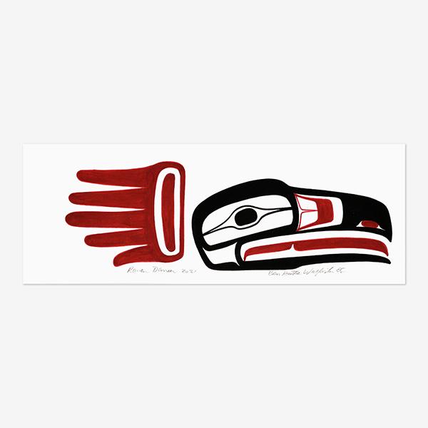 Original Raven Dancer Painting by Northwest Coast Native Artist Ben Houstie