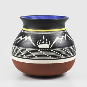 Porcelain Mountains and Bear Paw Vase by Northwest Coast Native Artist Patrick Leach