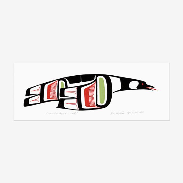 Original Canada Goose Painting by Northwest Coast Native Artist Ben Houstie