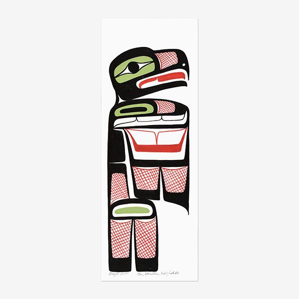 Original Eagle Painting by Northwest Coast Native Artist Ben Houstie