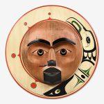Wood Raven and Sun Panel by Northwest Coast Native Artist Gordon Dick