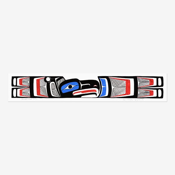 Original Thunderbird Painting by Northwest Coast Native Artist Ben Houstie