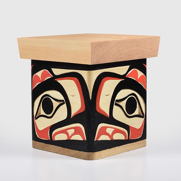 Wood Eagle Bentwood Box by Northwest Coast Native Artist Joseph Campbell
