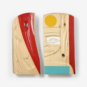 Raven and Buddha Cedar Panels by Northwest Coast Native Artist Corrine Hunt
