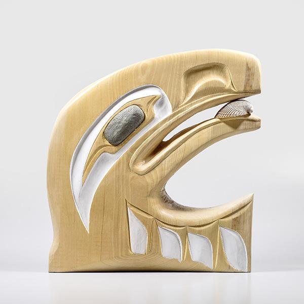 Wooden Eagle Sculpture by Northwest Coast Native Artist Corrine Hunt