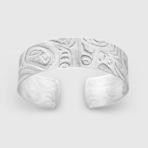 Silver Initiation Bracelet by Native Artist Gwaai Edenshaw