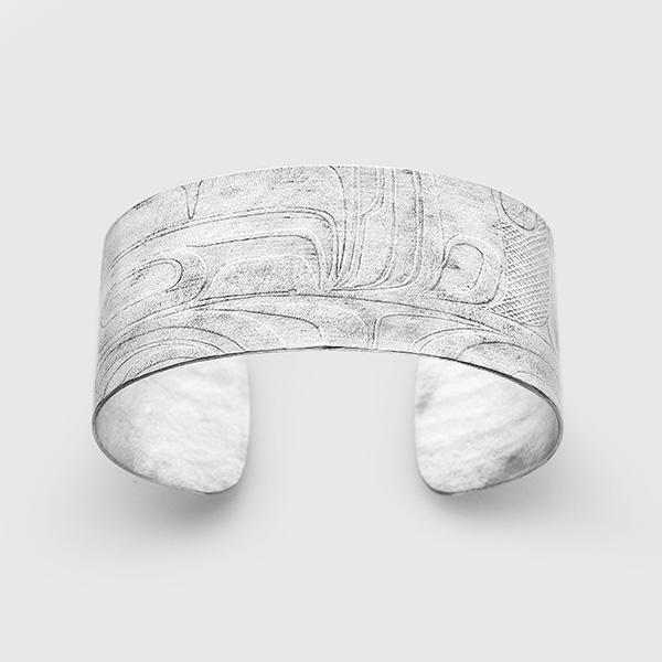 Silver Initiation Bracelet by Gwaai Edenshaw