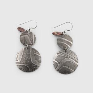 Silver Baby Momma Earrings by Gwaai Edenshaw