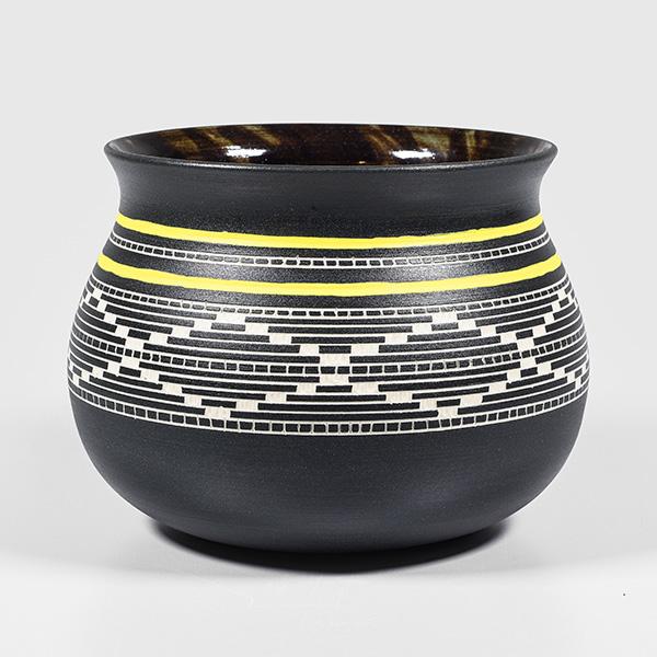 Porcelain Basket Weave Bowl by Northwest Coast Native Artist Patrick Leach