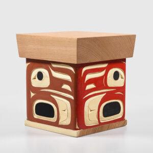 Wood Raven Box by Northwest Coast Native Artist Joseph Campbell