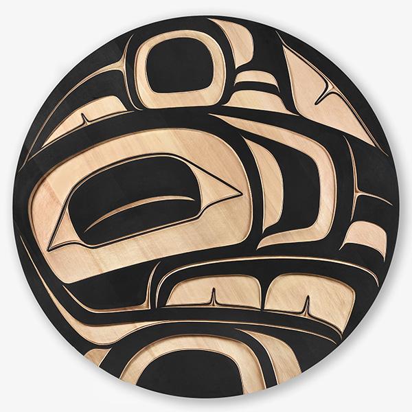 Wood Eagle Panel by Northwest Coast Native Artist Trevor Angus