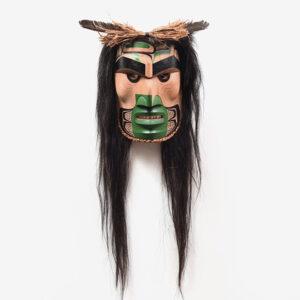 Wood Wild Man of the Woods Mask by Northwest Coast Native Artist Douglas David
