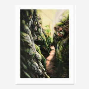 Gagiid in Forest Print by Northwest Coast Native Artist April White