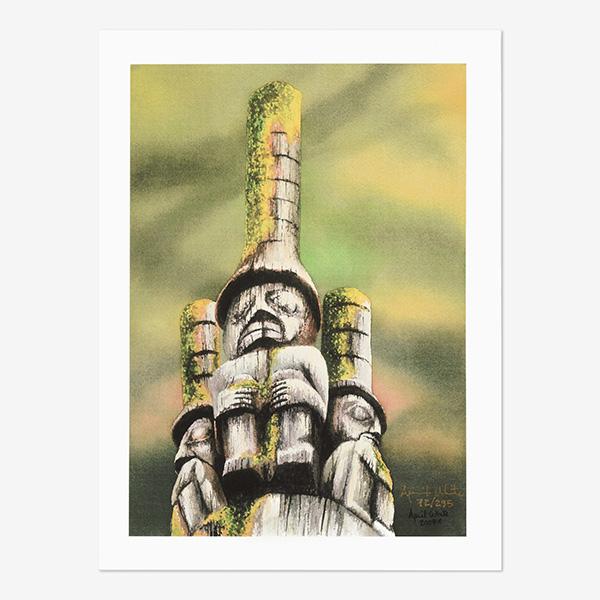 Three Watchmen Print by Northwest Coast Native Artist April White