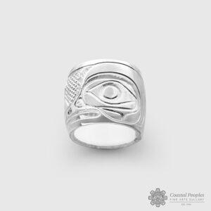 Engraved Sterling Silver Hummingbird Spirit Bead by Northwest Coast Native Artist John Lancaster