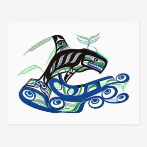 Killerwhale Print by Northwest Coast Native Artist Patrick Amos