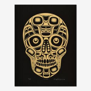Gold Skull Print by Northwest Coast Native Artist Corey Moraes