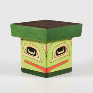 Wood Frog Box by Northwest Coast Native Artist Adonis David