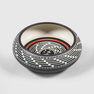 Porcelain Eagle Bowl by Northwest Coast Native Artist Patrick Leach