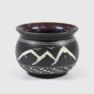 Porcelain Mountains & Frog Bowl by Northwest Coast Native Artist Patrick Leach