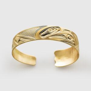Gold Raven Bracelet by Native Artist Corrine Hunt