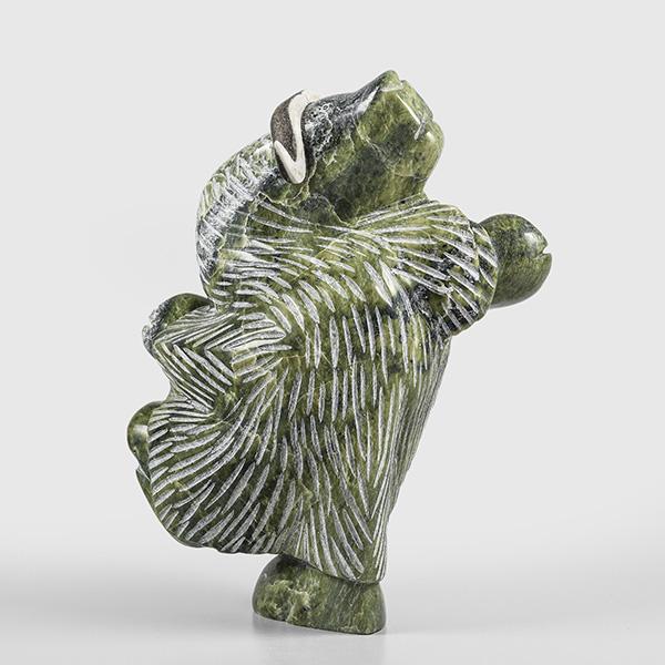 Serpentine Dancing Muskox by Inuk Artist Pitsiulak Qimirpik