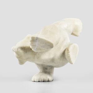 Marble Dancing Bear by Inuk Artist Ottokie Samayualie