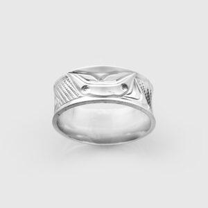 Silver Orca Ring by Northwest Coast Native Artist Corrine Hunt