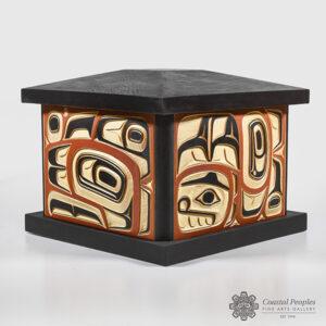 Wood Sea Eagle Box by Northwest Coast Native Artist Jim Charlie